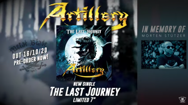 """ARTILLERY to release """"The Last Journey"""" single as tribute to Morten Stützer on vinyl and digitally October 16th"""