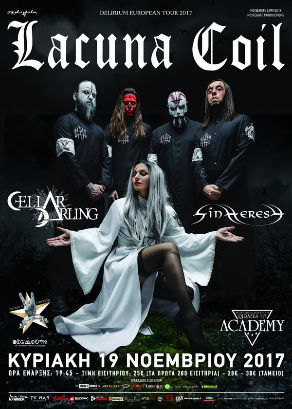 LACUNA COIL, CELLAR DARLING, SYNHERESY LIVE REPORT